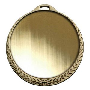 Custom Bright Laurel Leaf Insert Medallion (2-1/4