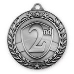 Custom 2 3/4'' 2nd Place Wreath Award Medallion