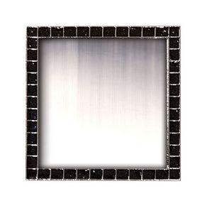 Square Glitter Lapel Pins w/ Military Clutch (1-3/16