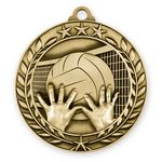 Custom 1 3/4'' Volleyball Wreath Award Medallion