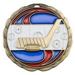 Custom Antique Hockey Color Epoxy Medallion (2-1/2