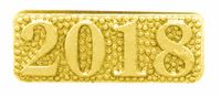 2018 Bright Gold Chenille Lapel Pin