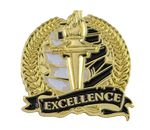 Bright Gold Academic Excellence Lapel Pin (1-1/8