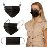 Custom Shield IV Box of 50pcs Black Disposable Face Masks