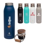 Custom Manna 18 oz. Ascend Stainless Steel Water Bottle w/ Acacia Lid