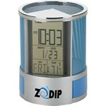 Custom Impressa Desk Organizer with Multi Function Clock