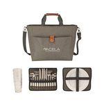 Custom Del Mar 4 Person Picnic Carry Set & Cooler Tote Bag