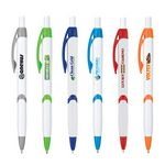Custom Wavy Contrast Accent Ballpoint Pen w/Full Color Imprint