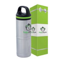 Odin 20 oz. Stainless Steel Vacuum Water Bottle & Packaging