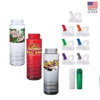 26 oz. PET Bottle with Flip Spout & Infuser