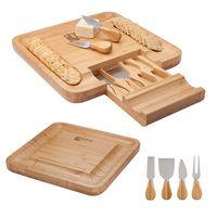 Lorenzi 4-Piece Bamboo Cheese Tray