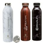 Custom Manna 20 oz. Retro Stainless Steel Water Bottle
