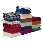 Custom Brookline Micro Mink Sherpa Blanket