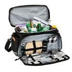 Custom Penn Valley 15 Can Cooler Bag with Picnic/BBQ Set