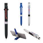 Custom 4-in-1 Ballpoint Pen/LED/Phone Stand/Stylus