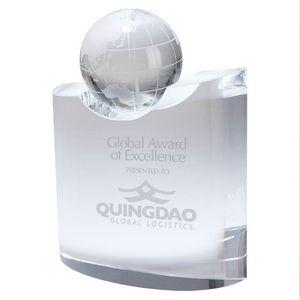 Crystal Globe w/Wave Crystal Base