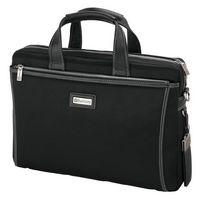 Forli Throw Leather/Nylon Briefcase