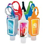 Custom 1 oz. Hand Sanitizer Bottle w/ Silicone Bottle Holder