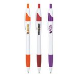 Custom Hourglass Barrel Ballpoint Pen w/ Colored Accents and Full Color Imprint