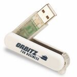 Custom Swiss Style Flash Drive w/Key Chain (64 MB)