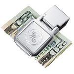 Custom Square 3D Mirror Etched Chrome Money Clip
