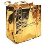 Custom Gold Metallic Shopper Bag