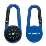 Custom Colored Carabiner Compass - Blue