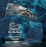 Custom Sail Crystal Shell Award
