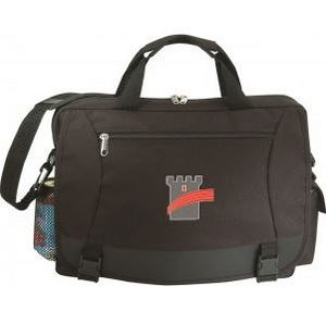 sports shoes 19215 2d8c7 Briefcase with Cell Phone Pouch and Bottle Holder with Leather Like Trim