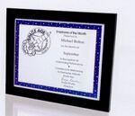 Custom Matte Black Polymer Certificate frame - 11x14