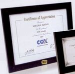 Custom Matte Black Polymer Certificate Frame - 8.5x11