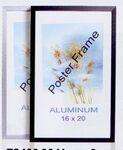 Custom Black Aluminum Poster Frame - 22x28