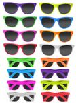 Neon Color Wayfa-Voyager Style Sunglasses