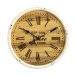 Custom 24 inch Wall Clock w/Wooden Backdrop