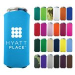 Collapsible 8 oz. Slim Foam Can Cooler - Screen Printed