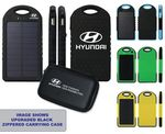 Custom 5000 mAh Dual-USB Water Resistant Solar Power Bank Battery Charger