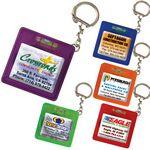 Custom 5' Pocket Tape Measure Keychain w/Level