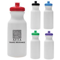 20 oz. White Sport Water Bottle