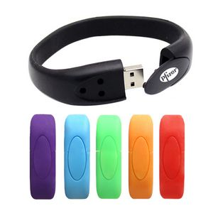 2gb Silicone Wristband Usb Flash Drive Bracelet 683 Ideastage Promotional Products