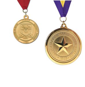 2 Die Struck Brass Medal