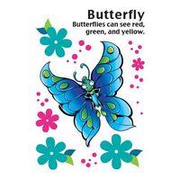 Cartoon Butterfly Temporary Tattoo