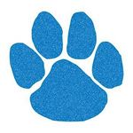 Glitter Blue Paw Print Temporary Tattoo