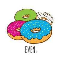 Donut Even Temporary Tattoo