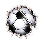 Break Through Soccer Ball Temporary Tattoo