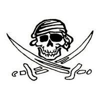 Glow in the Dark Skull and Swords Temporary Tattoo