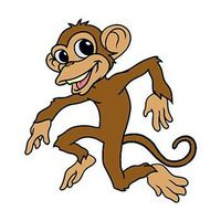 Dancing Monkey Temporary Tattoo
