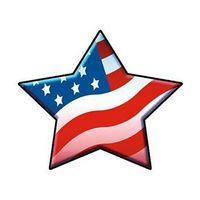 Patriotic Star Temporary Tattoo