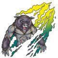 Glow In The Dark Wolf Temporary Tattoo
