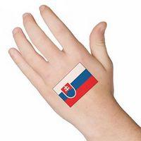 Slovakia Flag Temporary Tattoo
