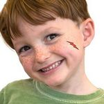 Red Lightning Bolt Temporary Tattoo